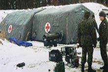 Палатки, мобильный госпиталь