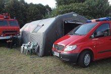 Пожарная служба, палатки