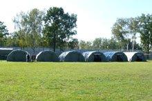 Размещение базы, палатки