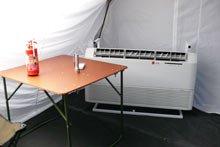 Внутренний блок кондиционера, палатки