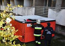 Установленная спасательная подушка MORATEX